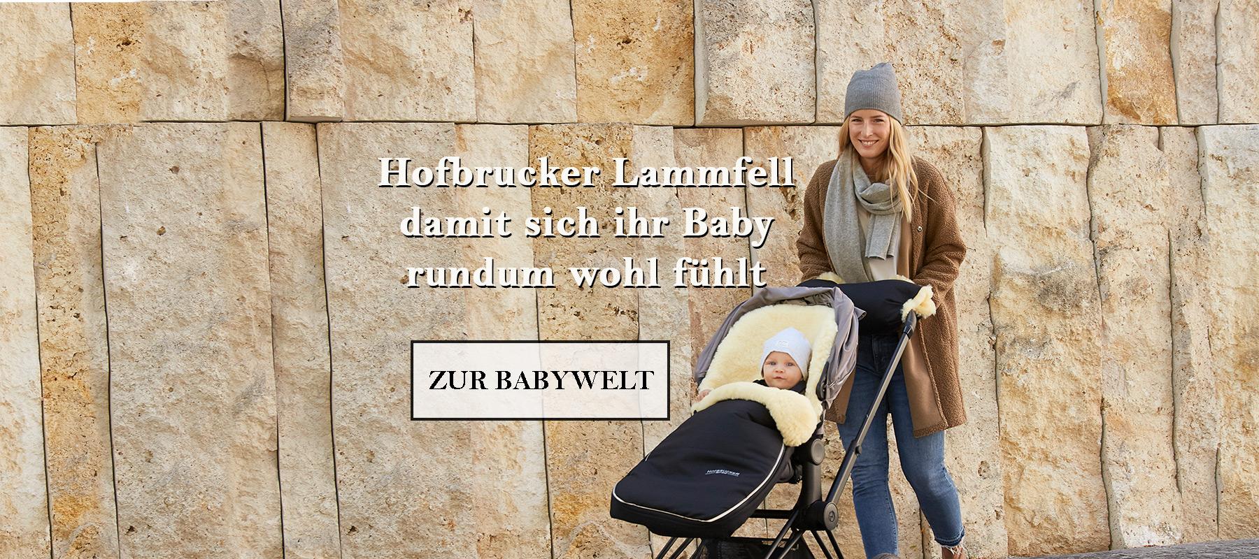 Hofbrucker Lammfell damit sich ihr Baby rundum wohl fühlt